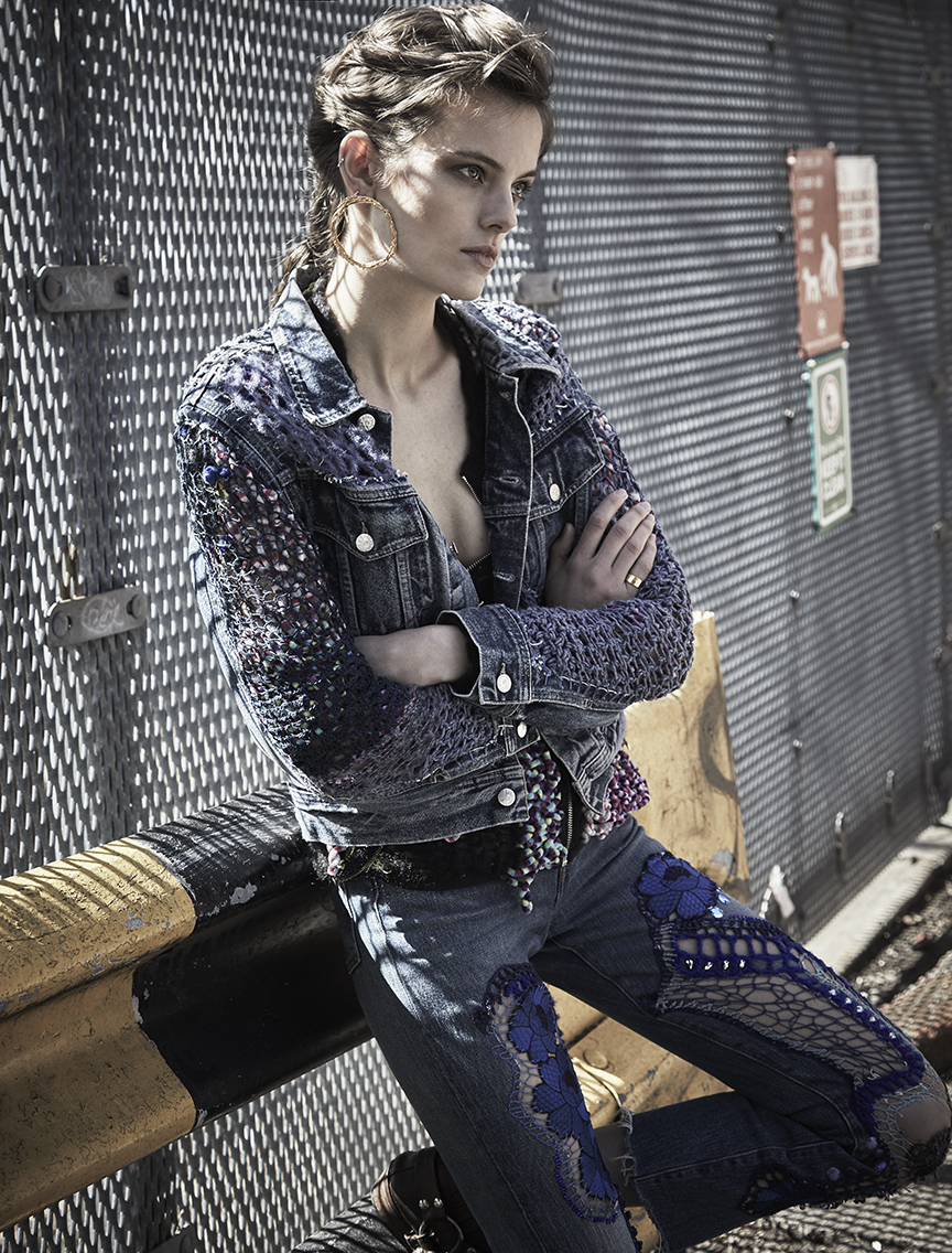 Jacket, Top and Denim pants by  Lou de Betoly .