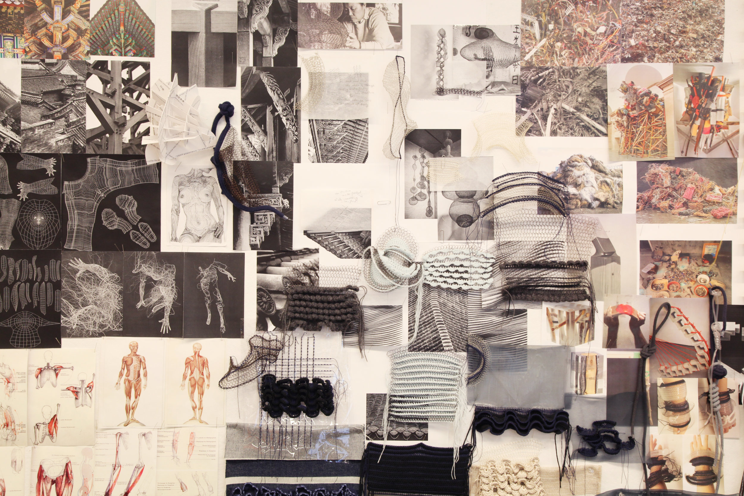 Di Gao's Mood Board for Her Collection.