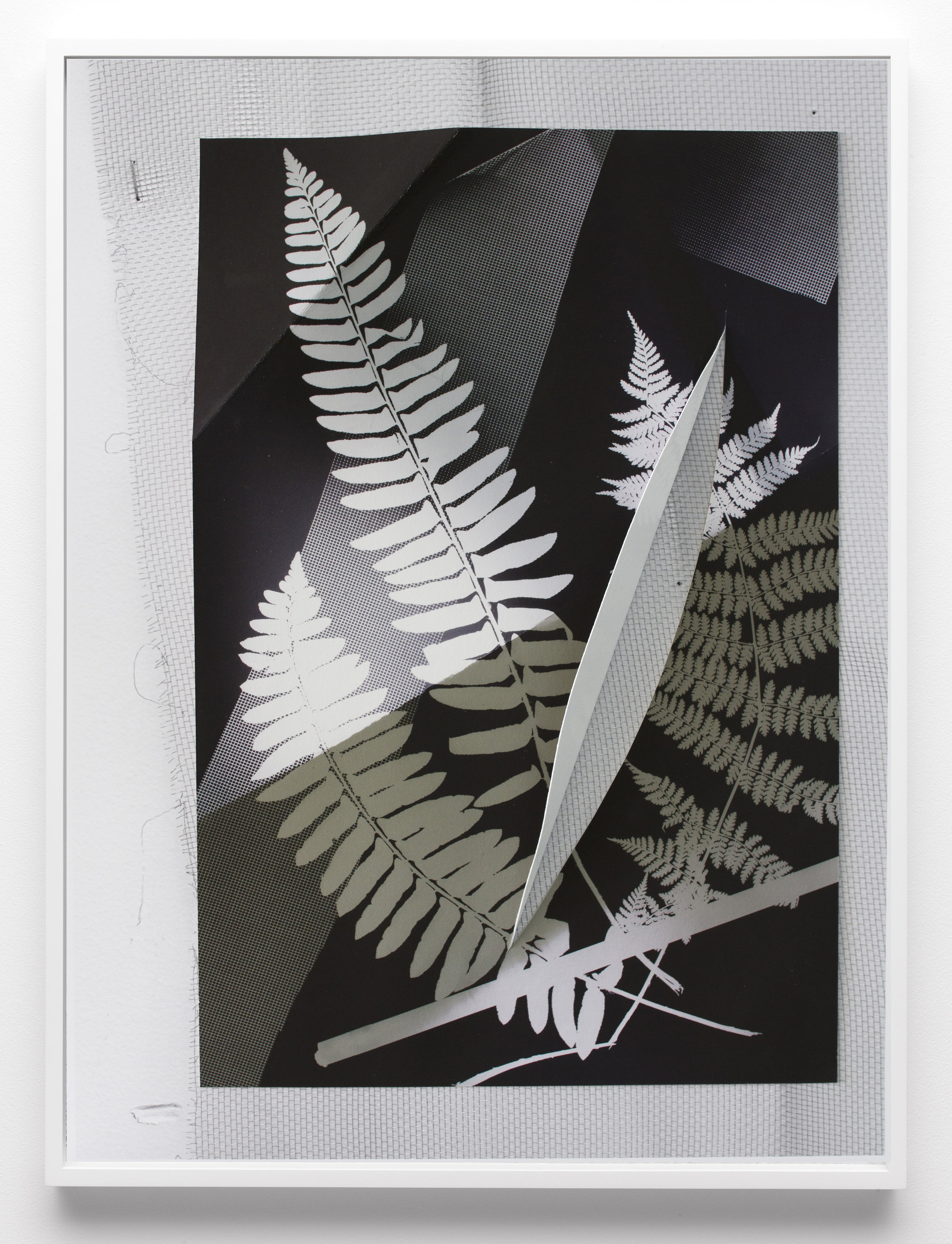 "Re-Photogram New Hampshire New York (Curve Cut), 2018  Two archival inkjet prints, framed, 32"" x 24"""