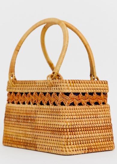 ASOS DESIGN Rattan Structured Basket Bag   https://fave.co/2Wzl8SY