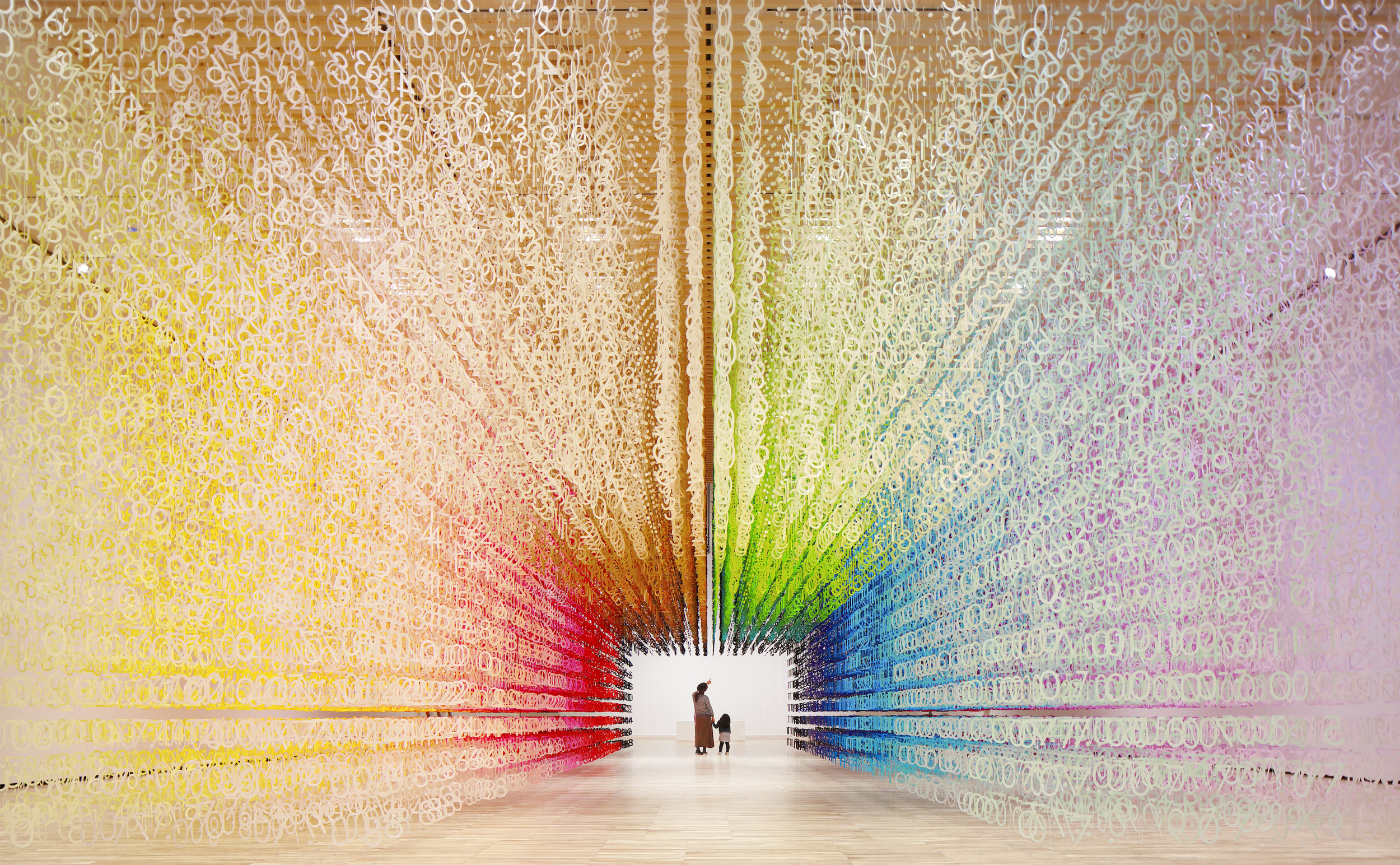 "Project : COLOR OF TIME  Toyama Prefectural Museum of Art & Design The opening ceremony exhibition Part 2 ""Art and Design, dialogue with materials""  Design : Emmanuelle Moureaux Photograph : Daisuke Shima"