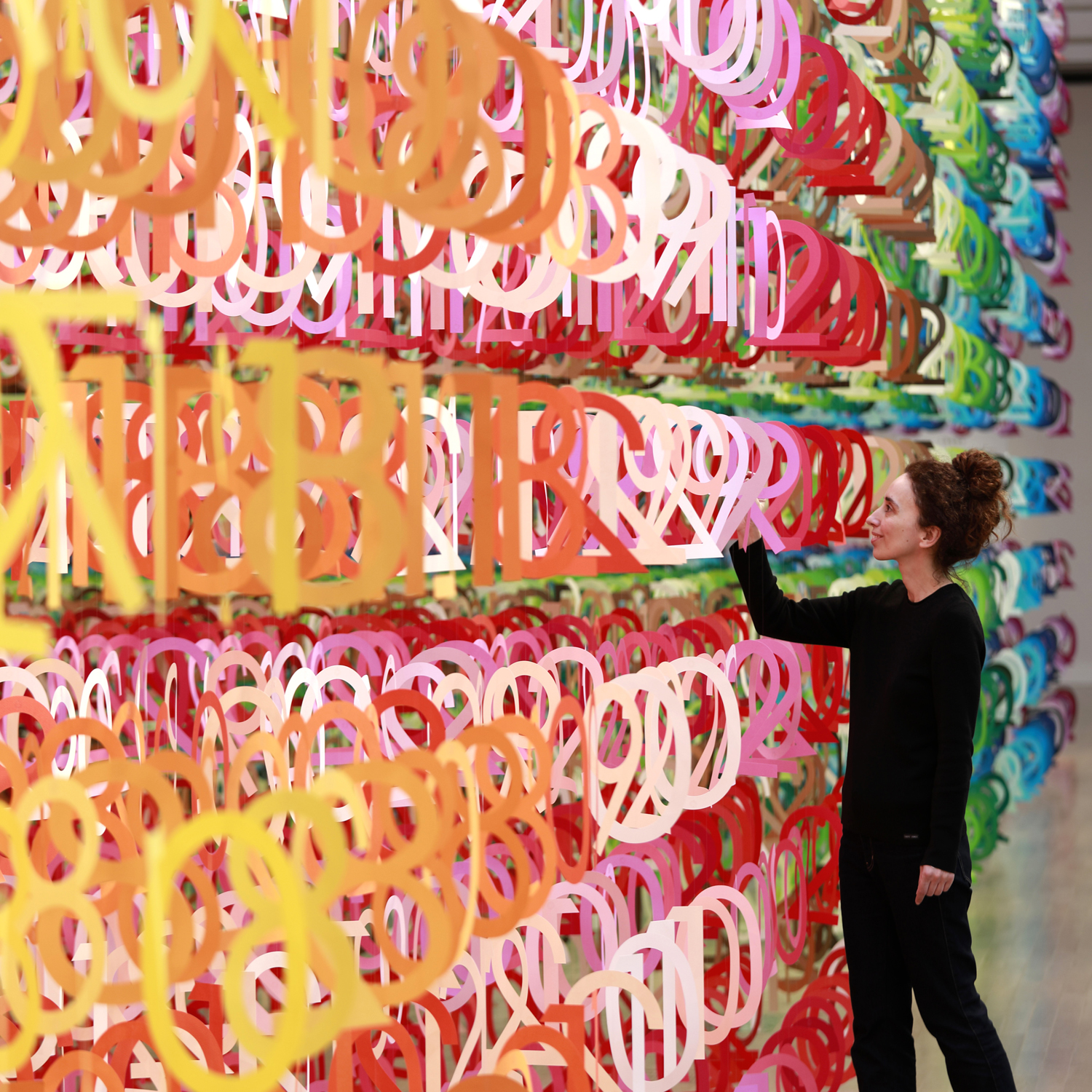 Project : Forest of Numbers /  The National Art Center, Tokyo  Design : Emmanuelle Moureaux Photograph : Daisuke Shima
