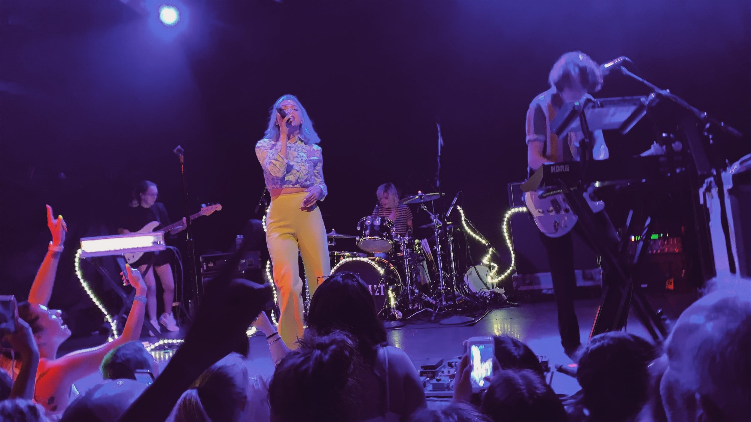 Hey Violet performing at Bowery Ballroom in New York City.