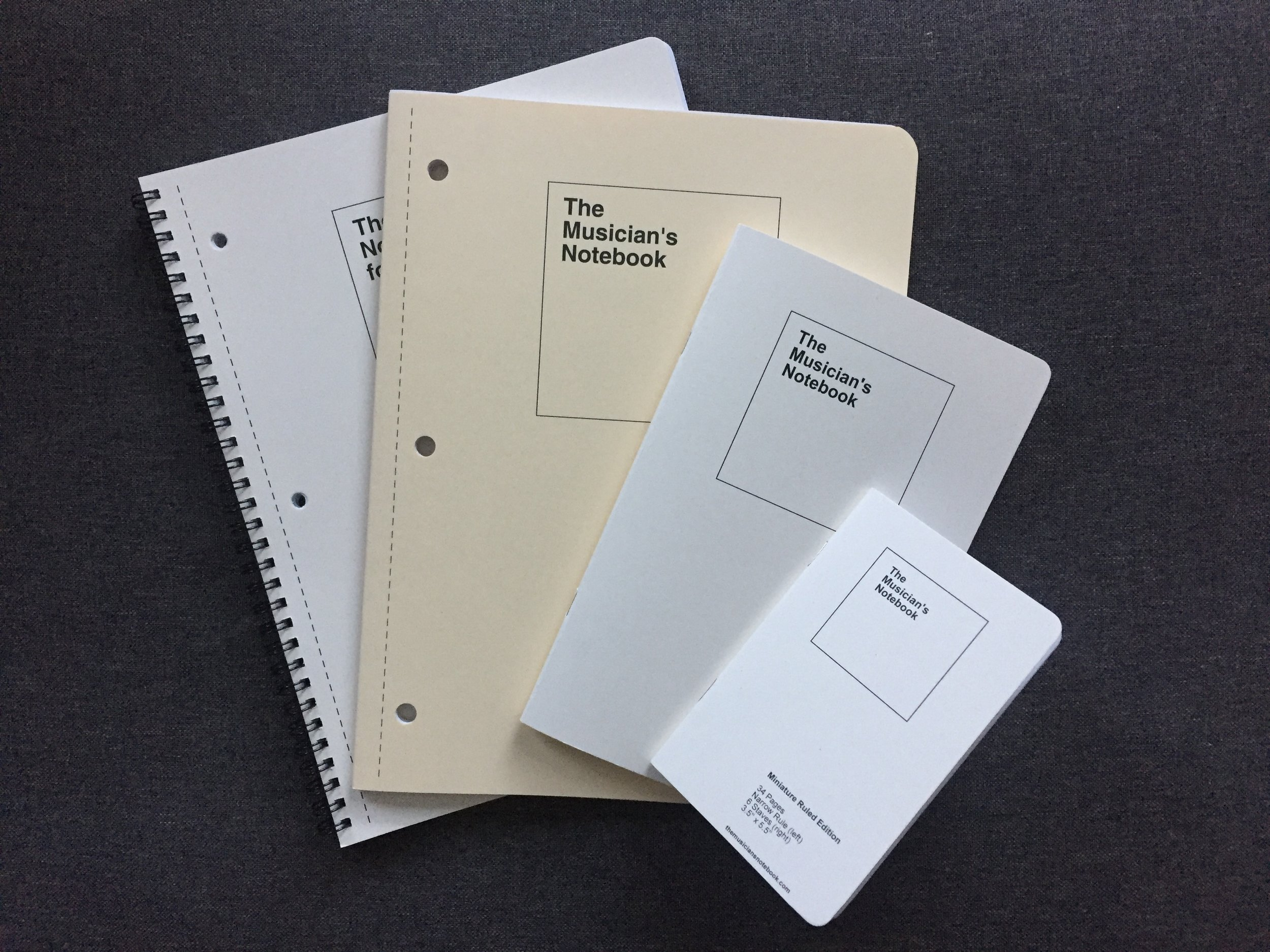 A Family of Notebooks - One for class, one to keep in your instrument case, and one to keep in your pocket.