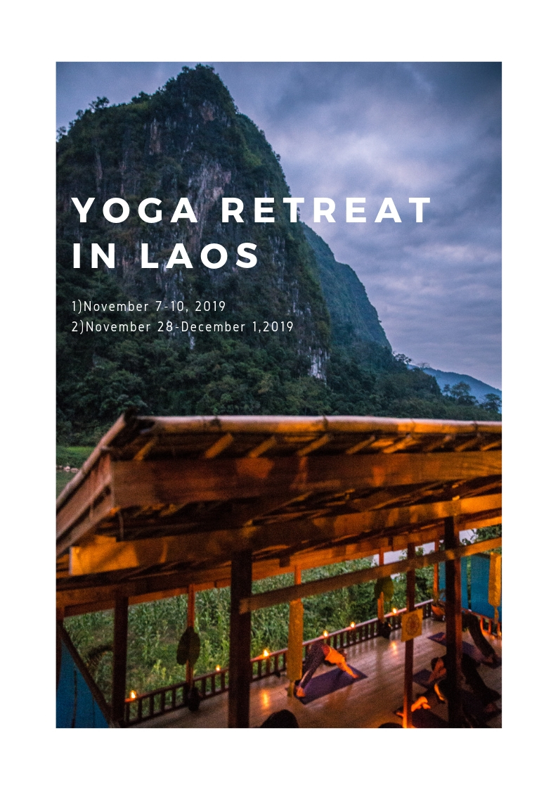 A YOGA TRAINING FOR THE CURIOUS STUDENT, TEACHER, AND ASPIRING TEACHER. MOTIVATED BEGINNERS WELCOMED!    《英語の後に日本語が続きます》   Step away from the usual holiday routine and take yourself on a unique exploration of yoga and meditation in a sleepy village, nestled in the highlands of Northern Laos. Set against a dramatic backdrop of slate and green ragged mountains, interrupted by the undulation of the Nam Ou River, Nong Khiaw's soothing atmosphere makes it an ideal place to nurture your yoga practice. We invite both the beginner and advanced practitioner to develop your practice further, to find happiness, to be inspired and to connect with Mother Nature on this introspective journey in paradise.   Now in our sixth year running, Laos Yoga Retreats continues to welcome novice and seasoned yogis from around the globe to learn, to practice together, and to cultivate a culture of openness and compassion towards ourselves and others, so that we may become more responsible and more caring citizens of the world.  日常の休暇のルティーンから離れて、北ラオスの静かな街でヨガと瞑想のリトリートで自身を癒す休暇はいかがですか。緑濃い山々とそこを流れるナムオー川の絶景を背にヨガの練習を深めながら、大自然に身を委ね、自分自身に向き合いリトリートしていく4日間。  7年目を迎える今シーズン、 ラオスヨガリトリートは全くのヨガ初心者から熟練者まで世界中から迎え、共に練習し、寛容さと人の痛みを理解する心をお互い養いながら、この地球に存在するさらなる責任と思いやりを育んでいく素晴らしいヒーリングの旅になること間違いなしです。  詳細は下記URLへ。英語となりますのでご質問があればお気軽にこちらのwebsiteへお問い合わせ下さい。    More information  LAOSYOGARETREATS.COM   Photography credit goes to Tony Deary
