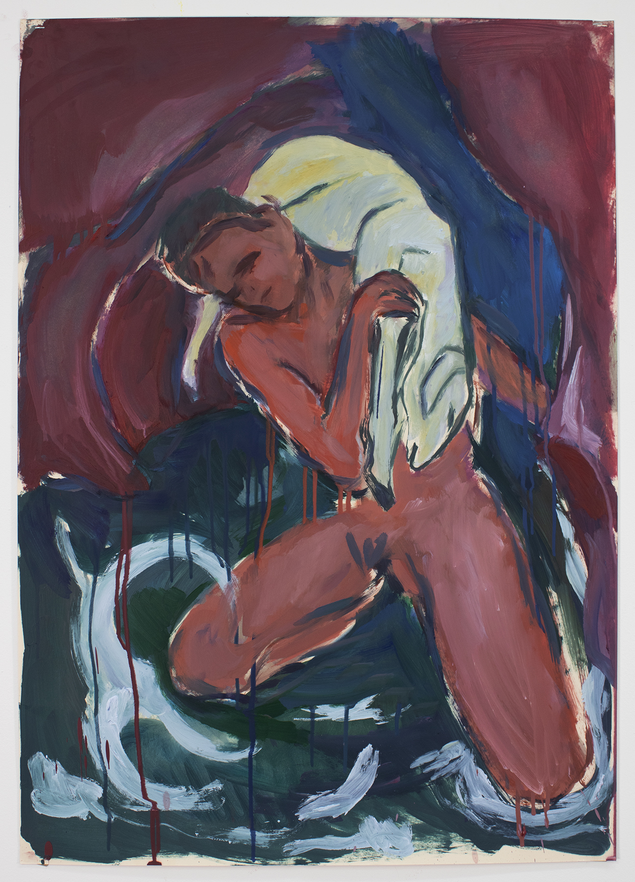 Young Boy with Lamb (After Franz Marc), 2019