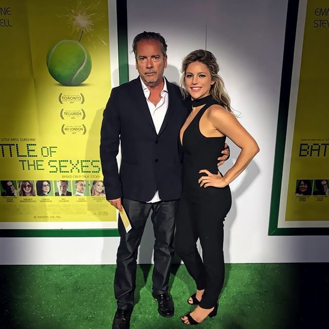 Proud to not only have worked on such an incredibly inspiring film, but also be able to stand alongside the @thomassmithdga at its premiere!!! #battleofthesexes