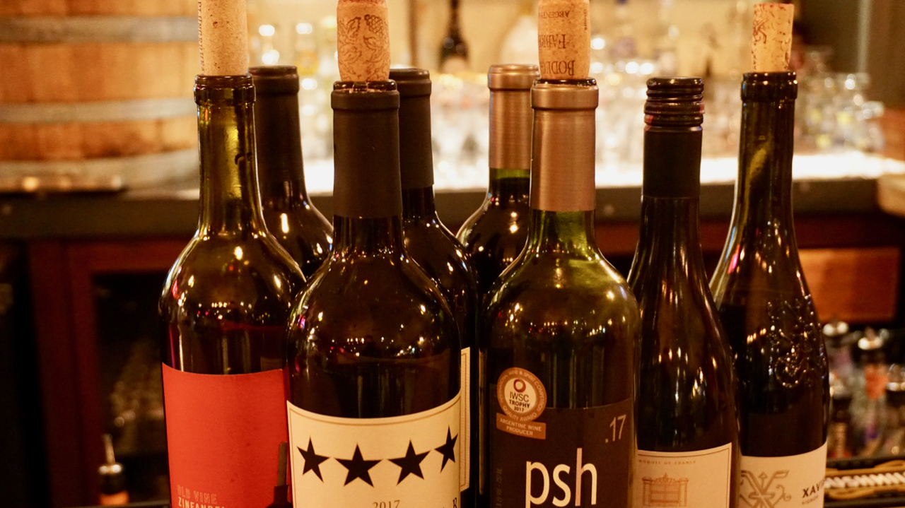 Thursday's - ½ priced bottled wine Nightwith a purchase of an entree