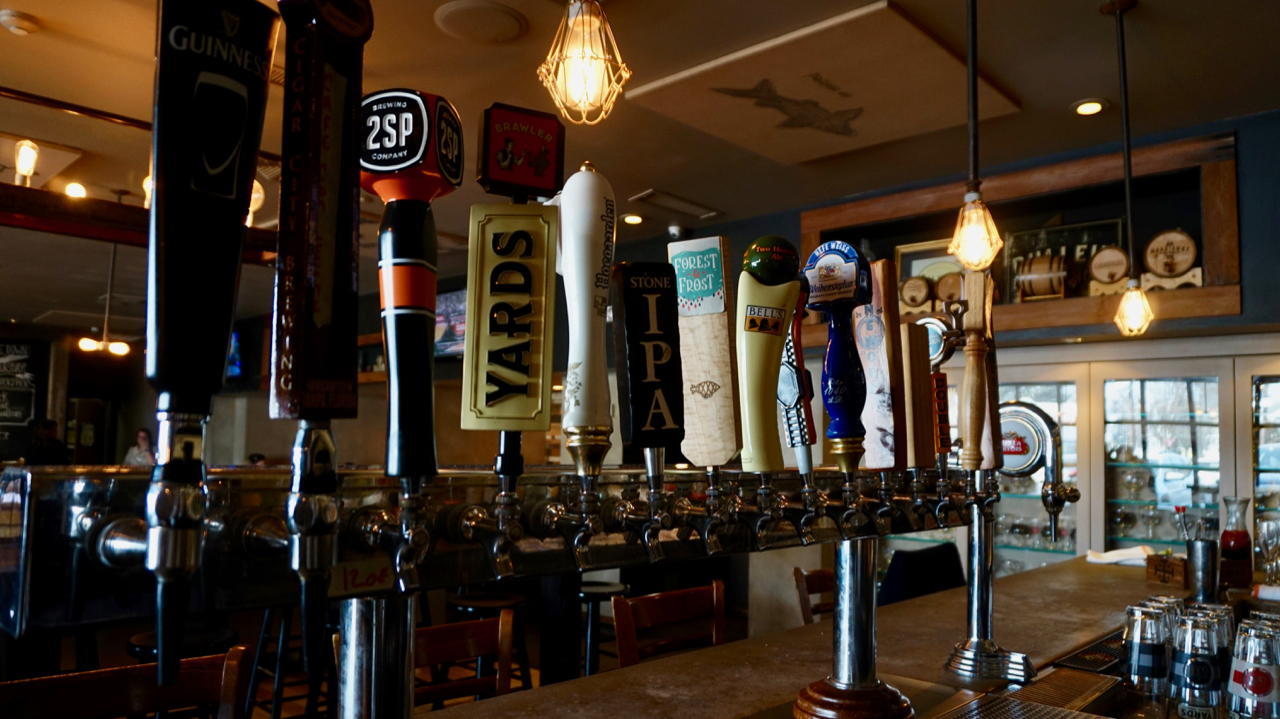 Keg and Kitchen's Craft Beers on Tap at their bar (2).jpg