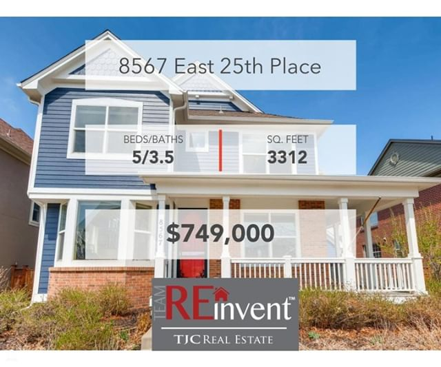 NEW PRICE! For Sale by REinvent Real Estate and check out this gem in the heart of Stapleton! https://www.tjcrealestate.com/details?property_id=denver_8385653&address=8567-E-25th-Pl-Denver-CO-80238