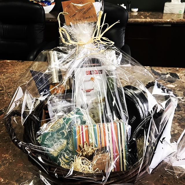 Third closing in three days. Fun little basket for our friend and client - I might steal one of those bottles in there.  #reinventrealestate #giftbasket #stapletondenver #thegreat80238 #sellinghouses #stranahanswhiskey