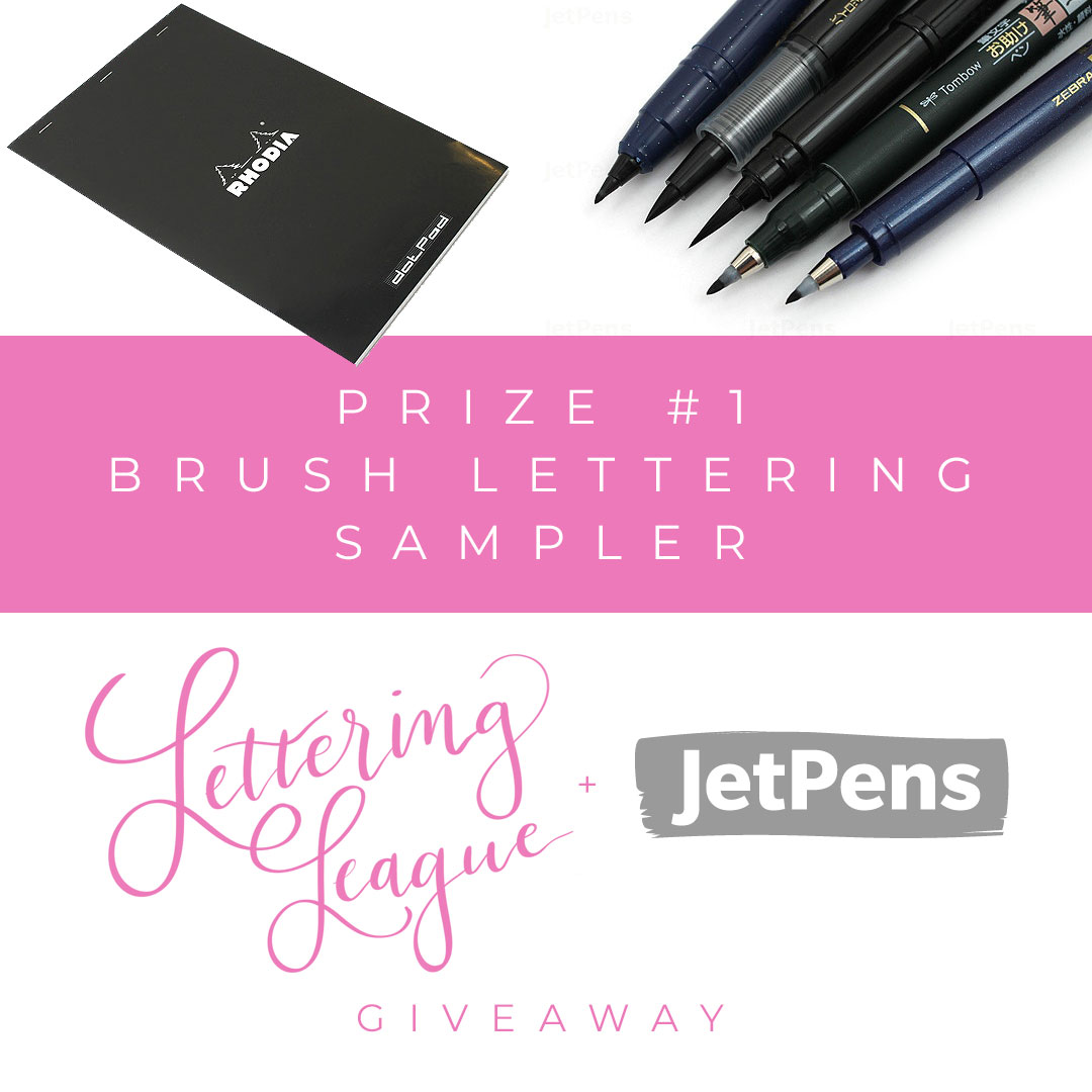Lettering League and JetPens Giveaway bundle #1