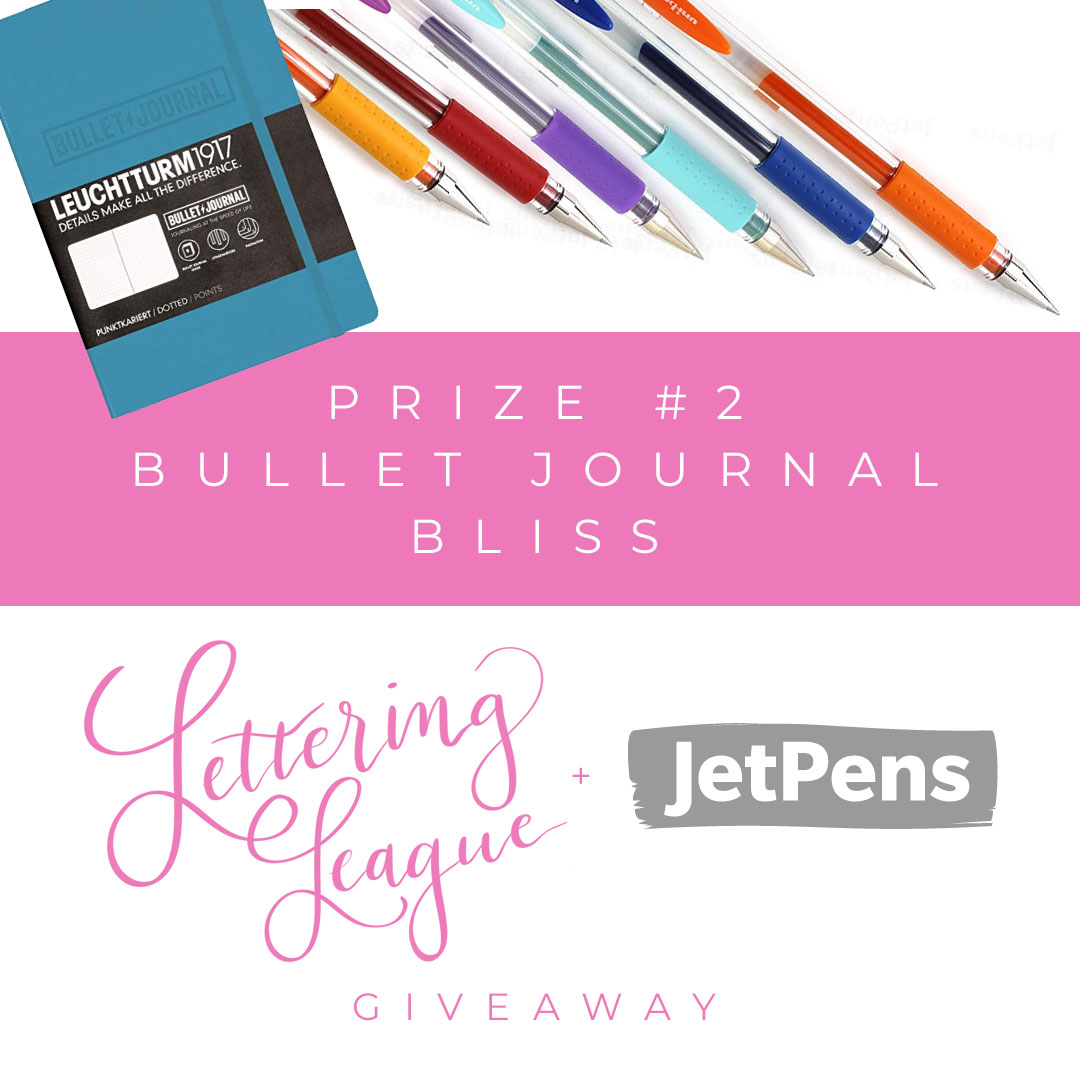 Lettering League and JetPens Giveaway