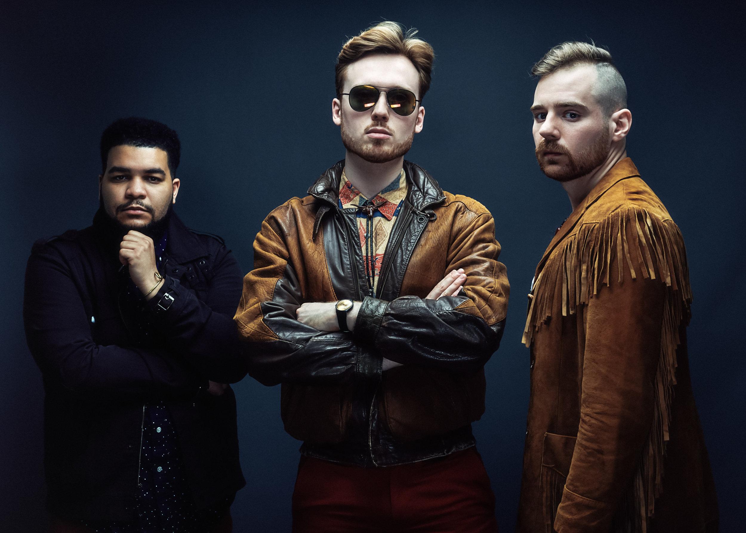 Kush Abadey, Ben Eunson and Alexander Claffy  (Photo by Deneka Peniston)