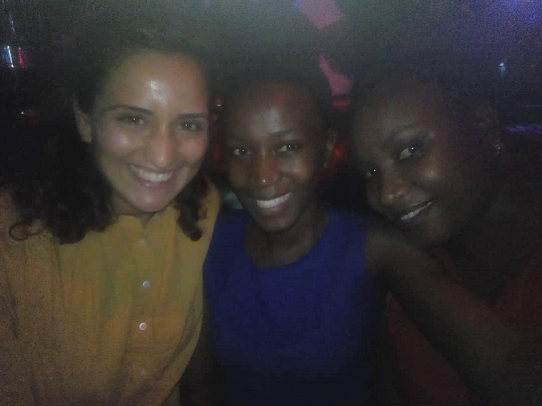 Mit Linda und ihrer Schwester im Amnesia Club