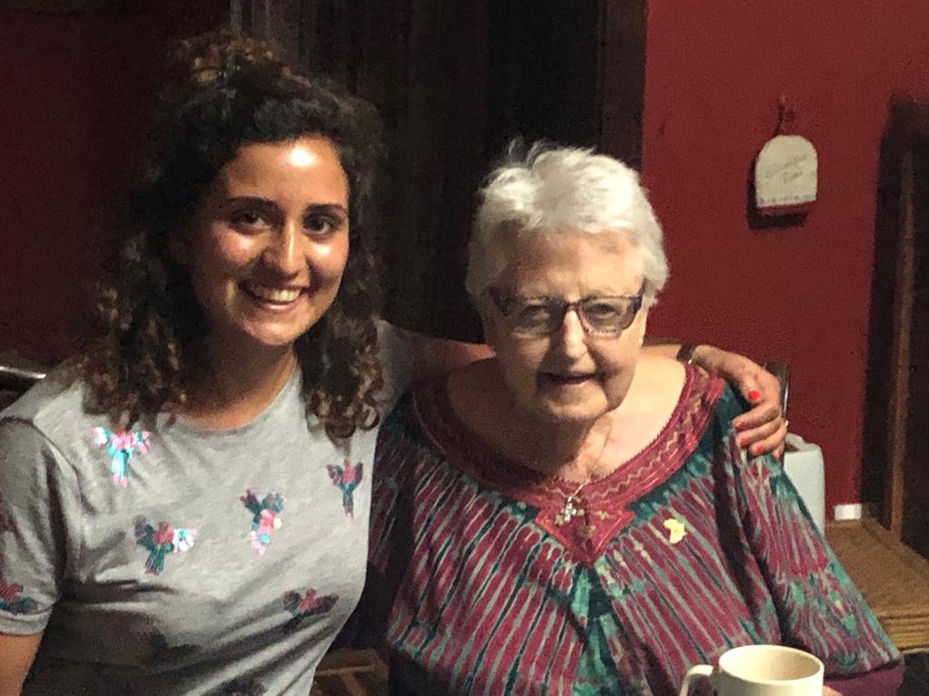 Abends bei Dr. Anne, die Gründerin des Hospizes