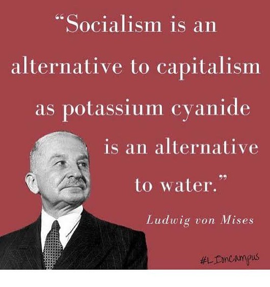 Thanks Von Mises. We need this, not socialism and the sadness it brings #vivalalibertad #libertarian #freedom