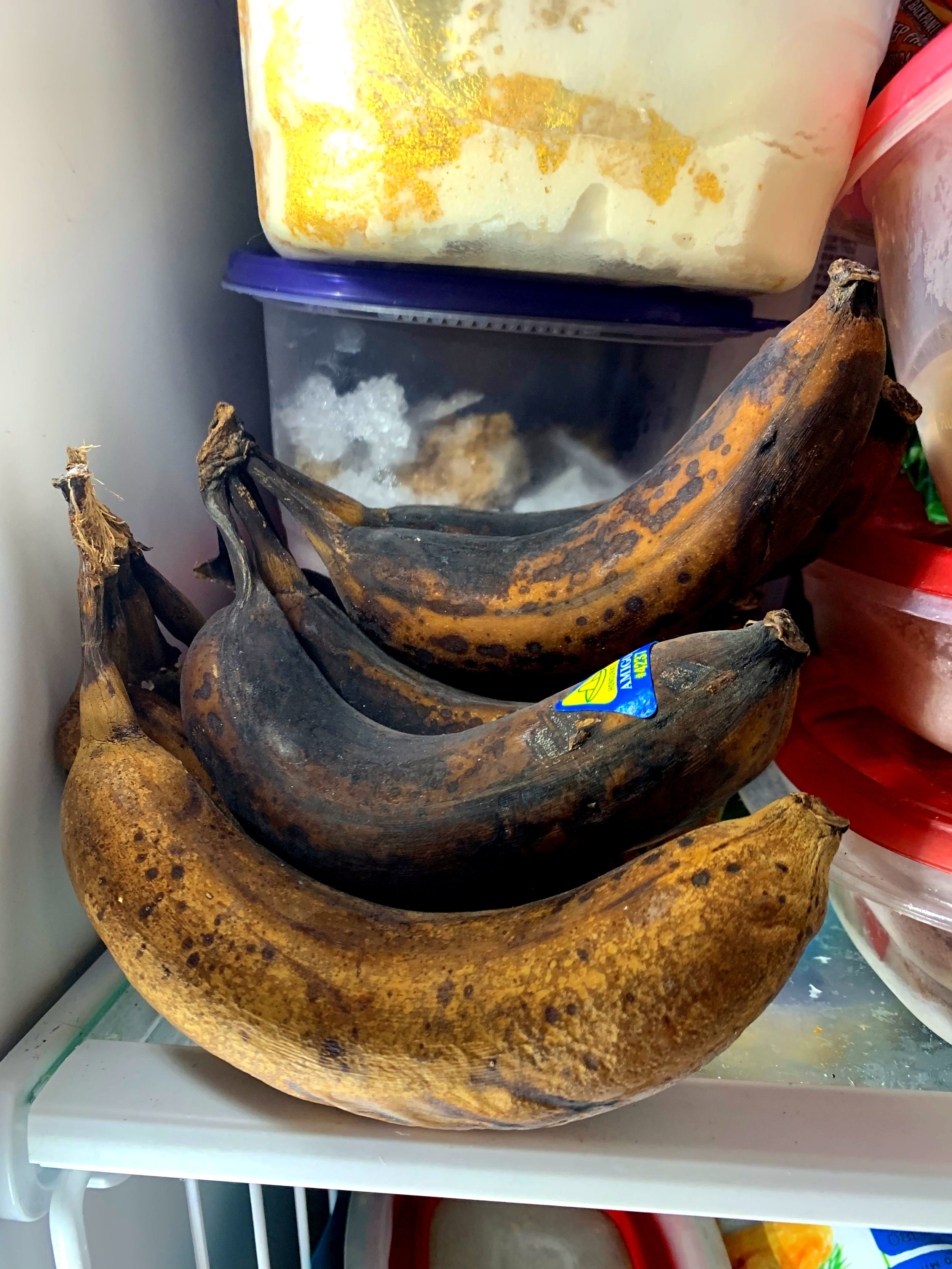Freeze your bananas with the peel on to prevent food waste.