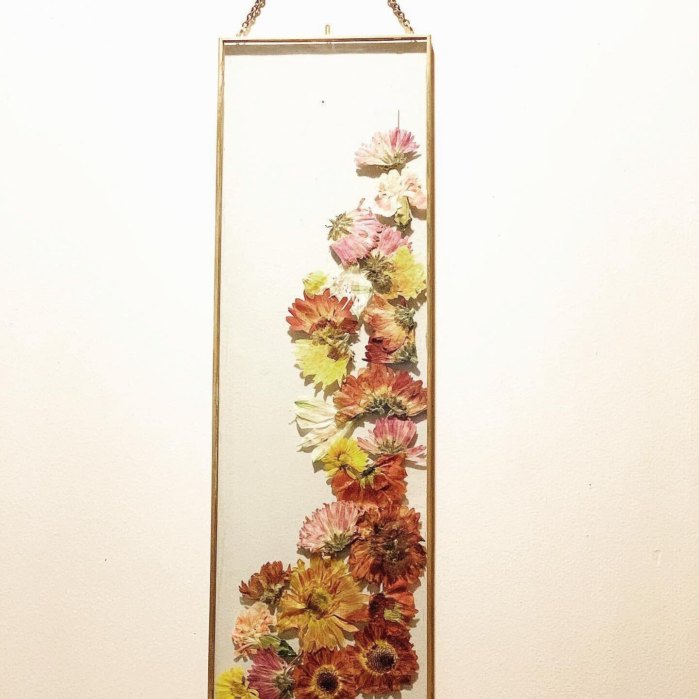 Pressed seasonal flowers, available at Pineapple on Main, Manayunk, Phila. SOLD.