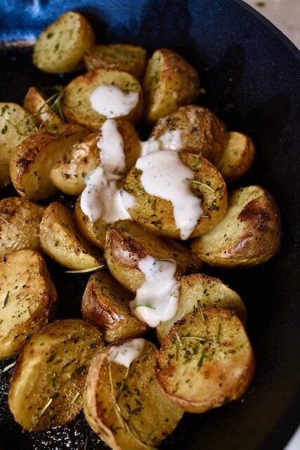 Click here  to check out lemon herb potatoes with the dill sauce.