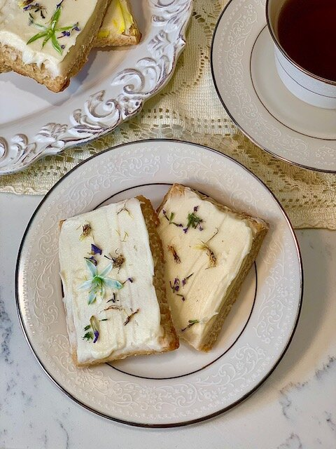 Vegan Wildflower Shortbread Cookies