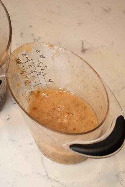 Use 3/4 cup for the brownie batter,
