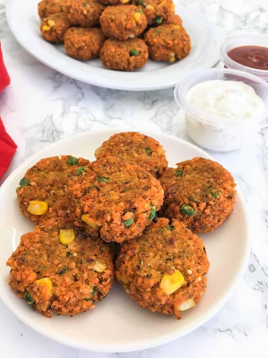 Baked Lentil Nuggets