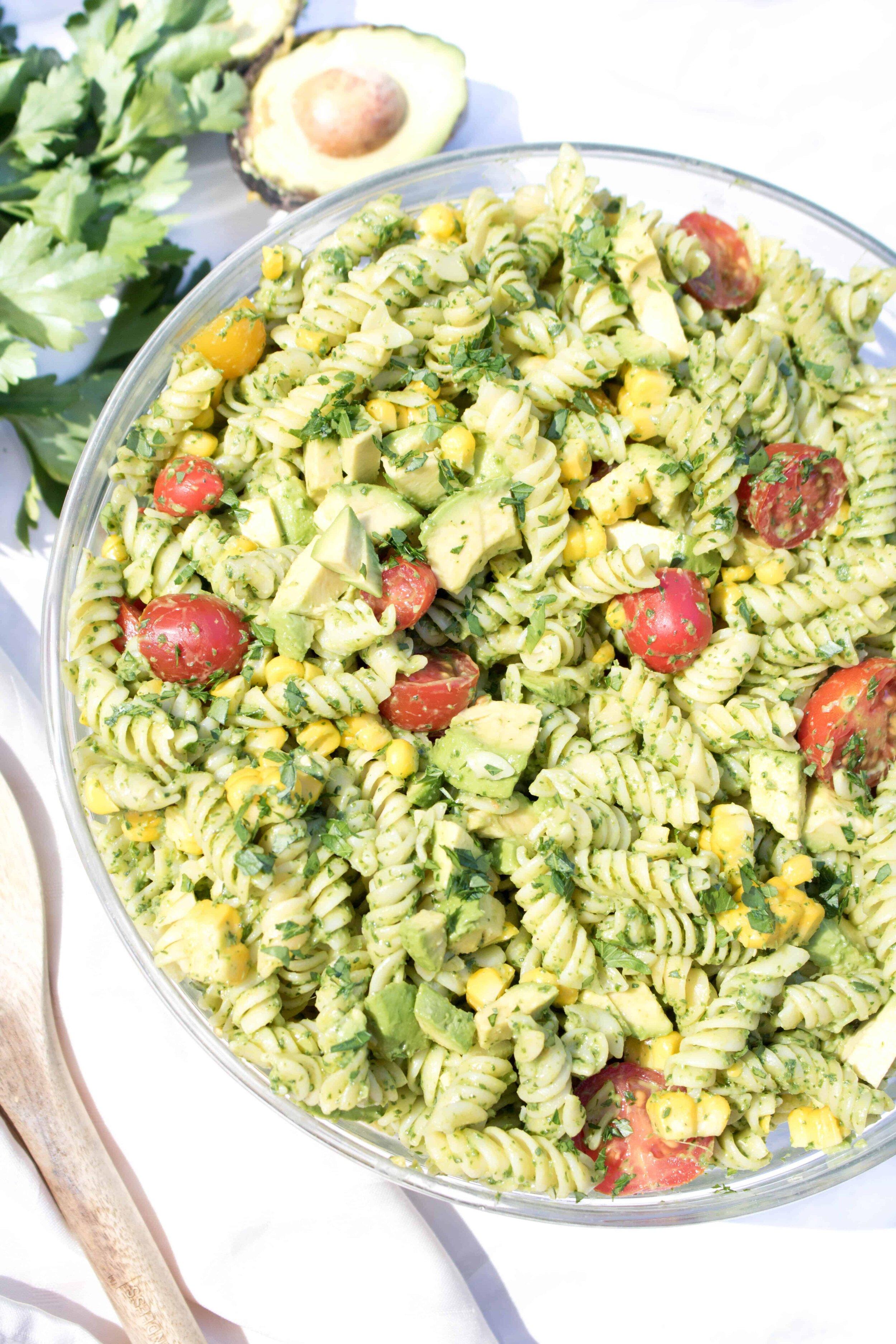 Healthy Avocado Pasta Salad