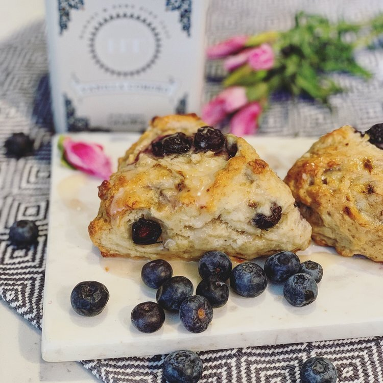 Super simple blueberry banana scones that use extra ripe bananas.  Find the recipe here.