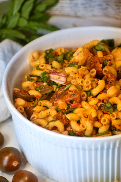 roasted red pepper pasta salad 1