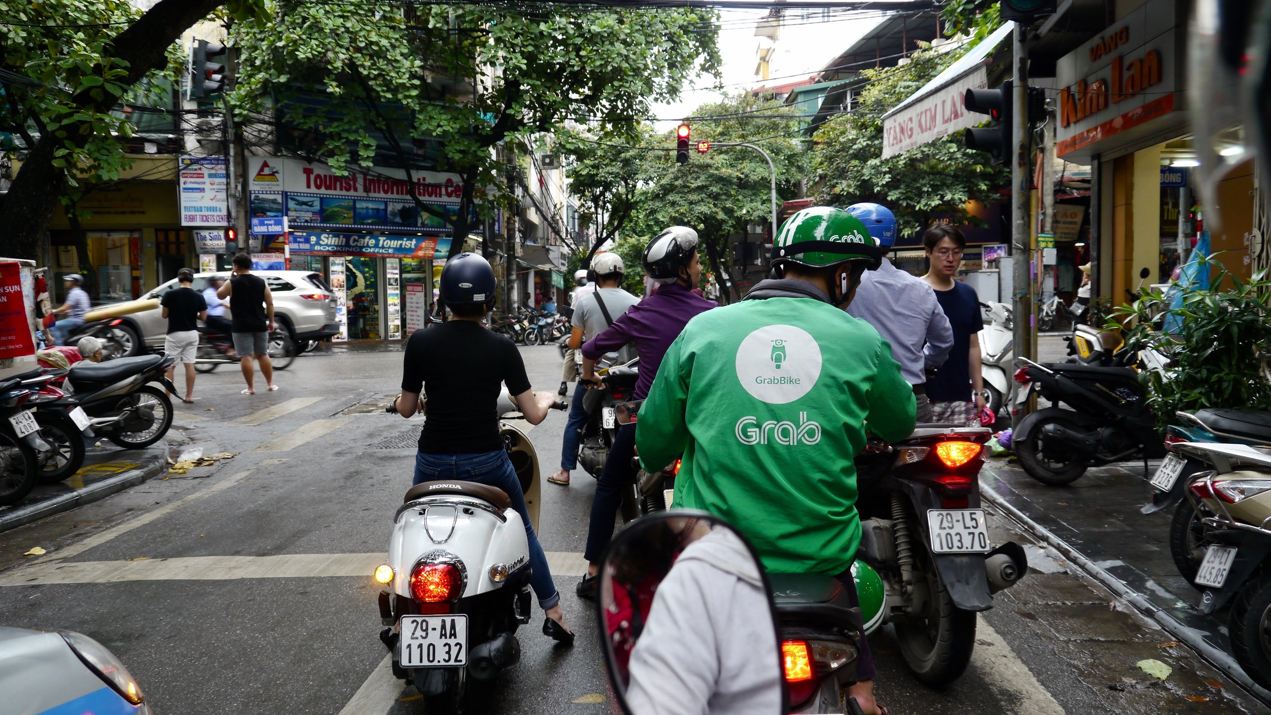 The Arrival of Grab Drivers, Hanoi