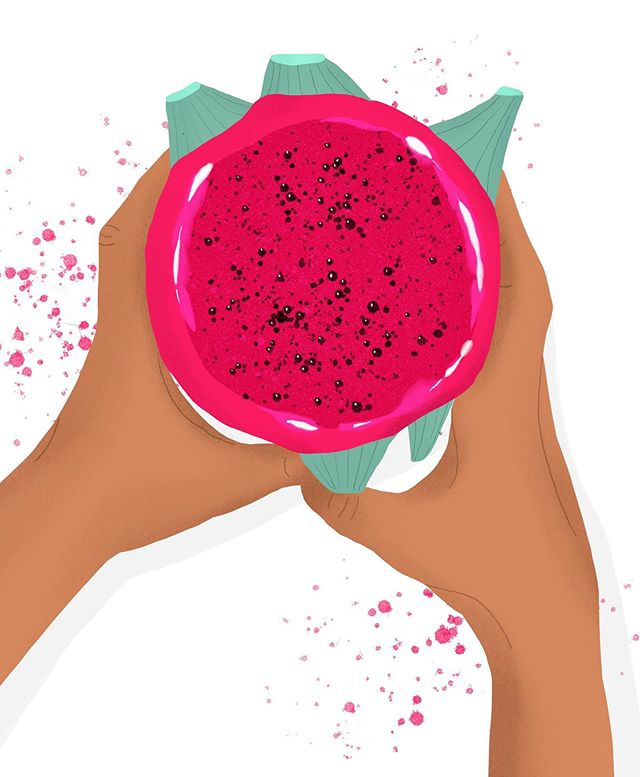 Quick 1 hour drawing of one of my favorite tropical fruits: The one and only Dragonfruit. Apparently it kind of tastes like nothing, but I love the color! Any one else is in Team Dragonfruit?