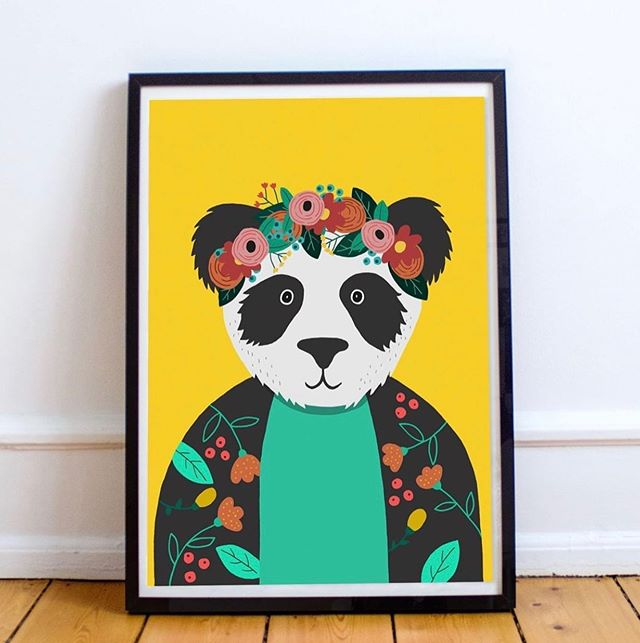 Update for my German Instagram Followers! It's super easy for you to buy my Kids Posters now, as I am selling them on Amazon Germany. So far you can buy my lovely Panda Kahlo Print, but at the end of next month there will be more prints available. If you wanna have a look, just check out the link to my Amazon Poster in my Bio!