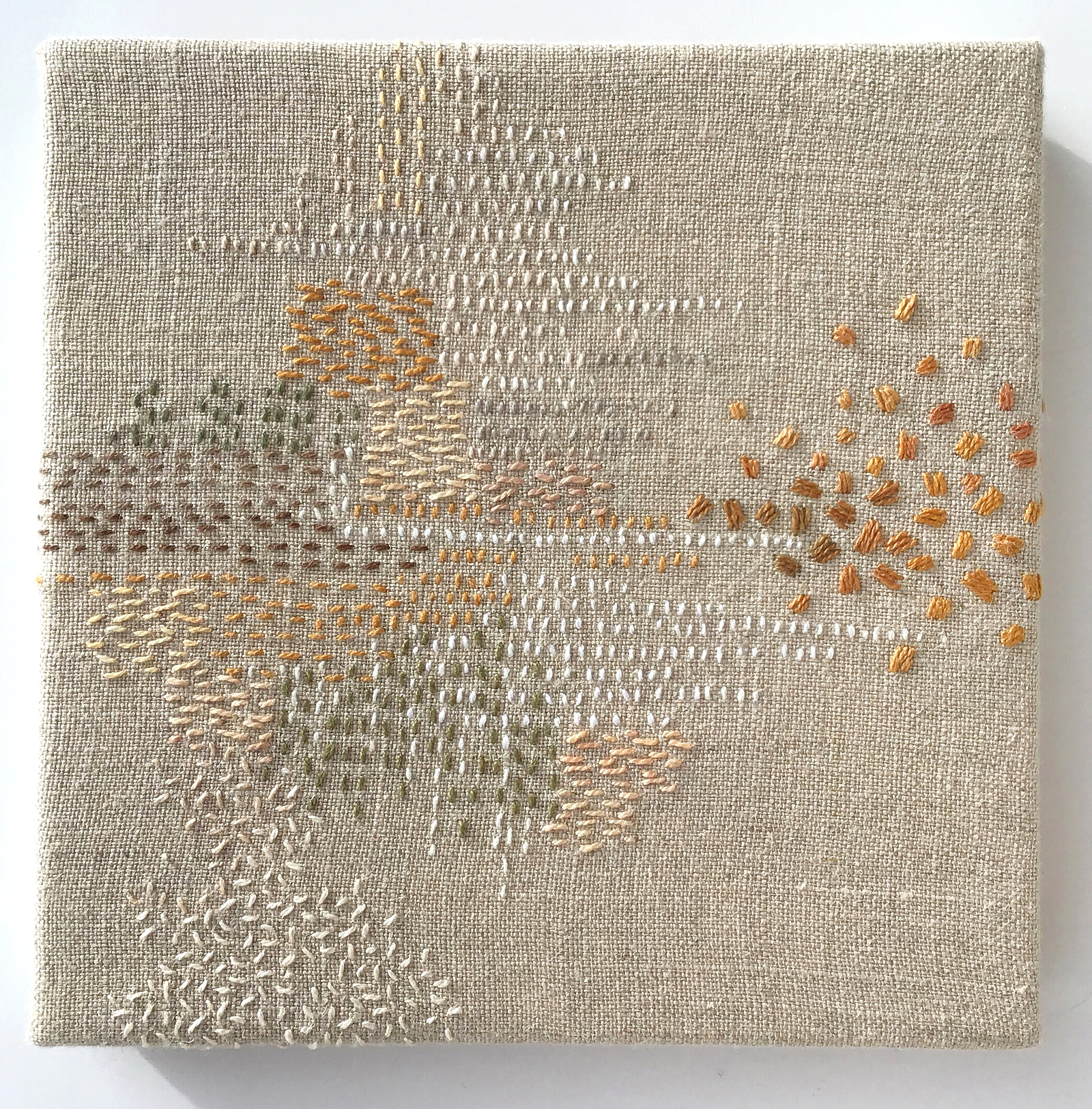 Stitch Journal 2019, No. 1 (Earth), 2019, pearl cotton and linen, 6 x 6 inches