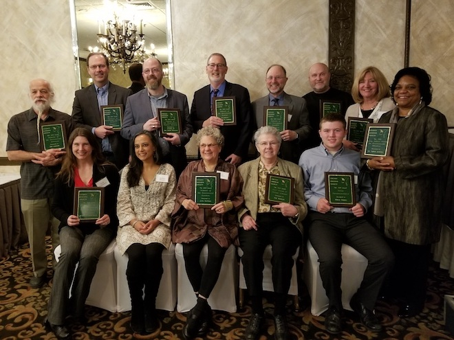 Group photo of award recipients, April 2019