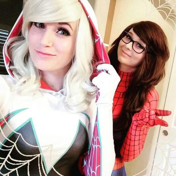 Spider Gwen and Spidergirl