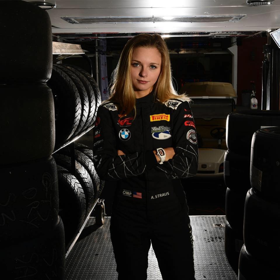 Aurora Straus - Aurora Straus, professional race car driver and student at Harvard, founded Girls With Drive after young girls began to approach her at races. Inspired by her own mentors, Straus created Girls With Drive to help young girls find role models that will inspire them to break their own glass ceilings.For the past two years, she competed as the only teenage female professional sportscar racer in North America. In 2017, she was named IMSA Rookie of the Year. And in 2018, she placed 2nd in the overall championship, including four podiums and two wins, in Pirelli World Challenge (BMW M4 GT4).Some of Straus's 2018 media appearances include Good Morning America, Jay Leno's Garage, and NY Post.