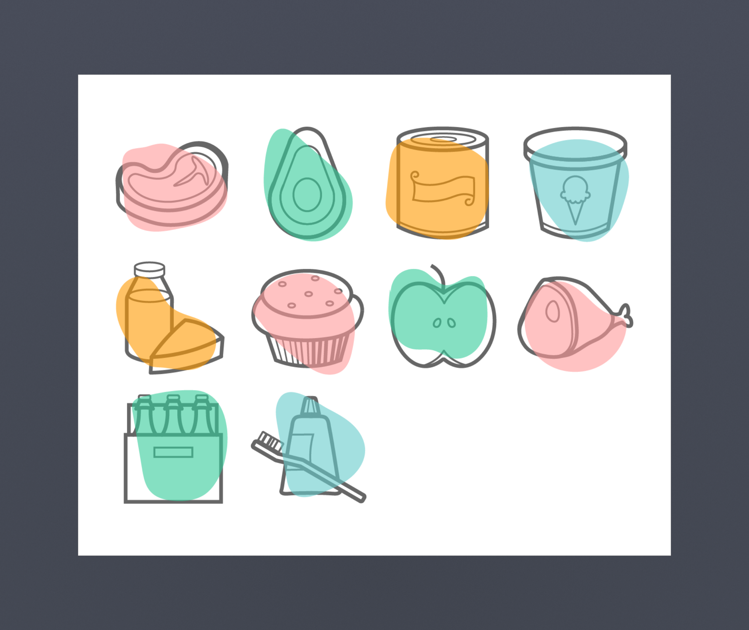 grocery store icons - visual design