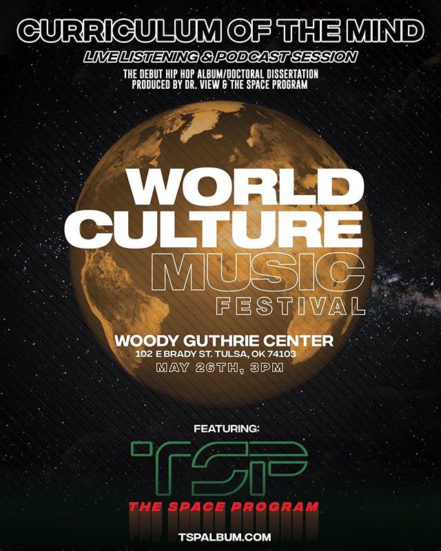 #Tulsa, check in!!! Are we ready for a good time? If so, come check us out at #WCMF this Sunday to learn more about the artists, the background, and everyone involved. We taking the bridge between the two best cities to have a conversation. Let's get it. #TSP #curriculumofthemind
