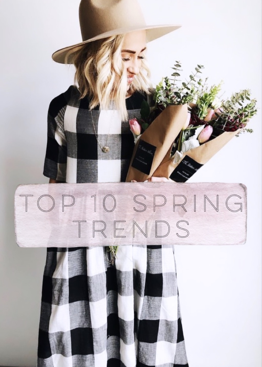 Original photo and dreamy buffalo plaid dress are from  Roolee