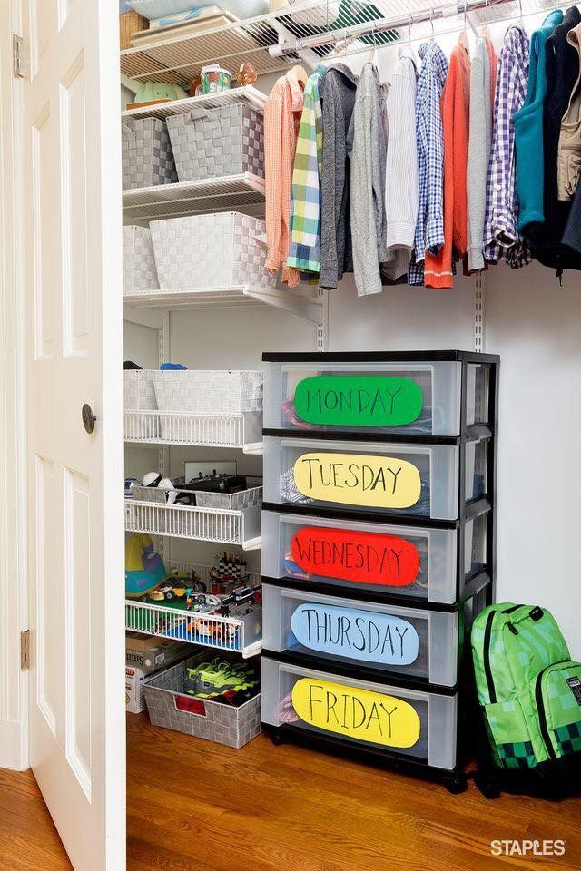 Back to School Closet Organization