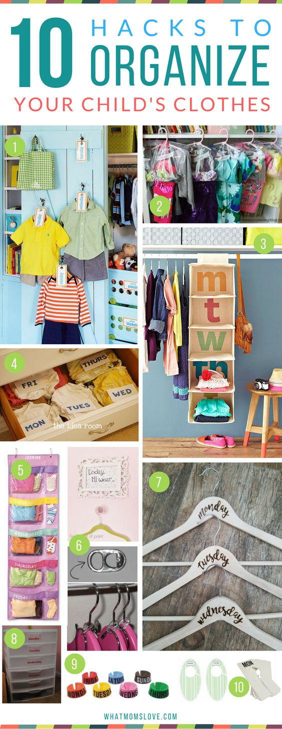 Kid Closet Organization Hacks