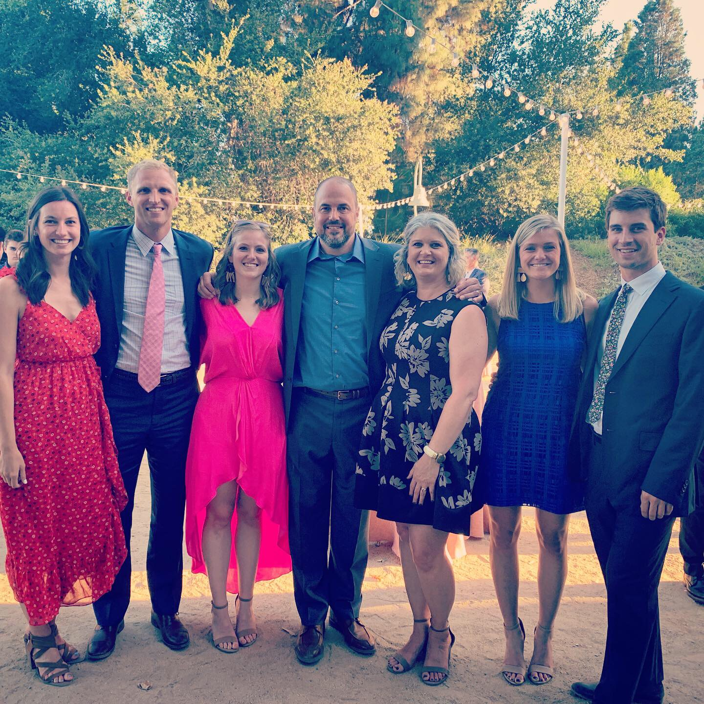 My family and me in Fullerton for a fun, family wedding