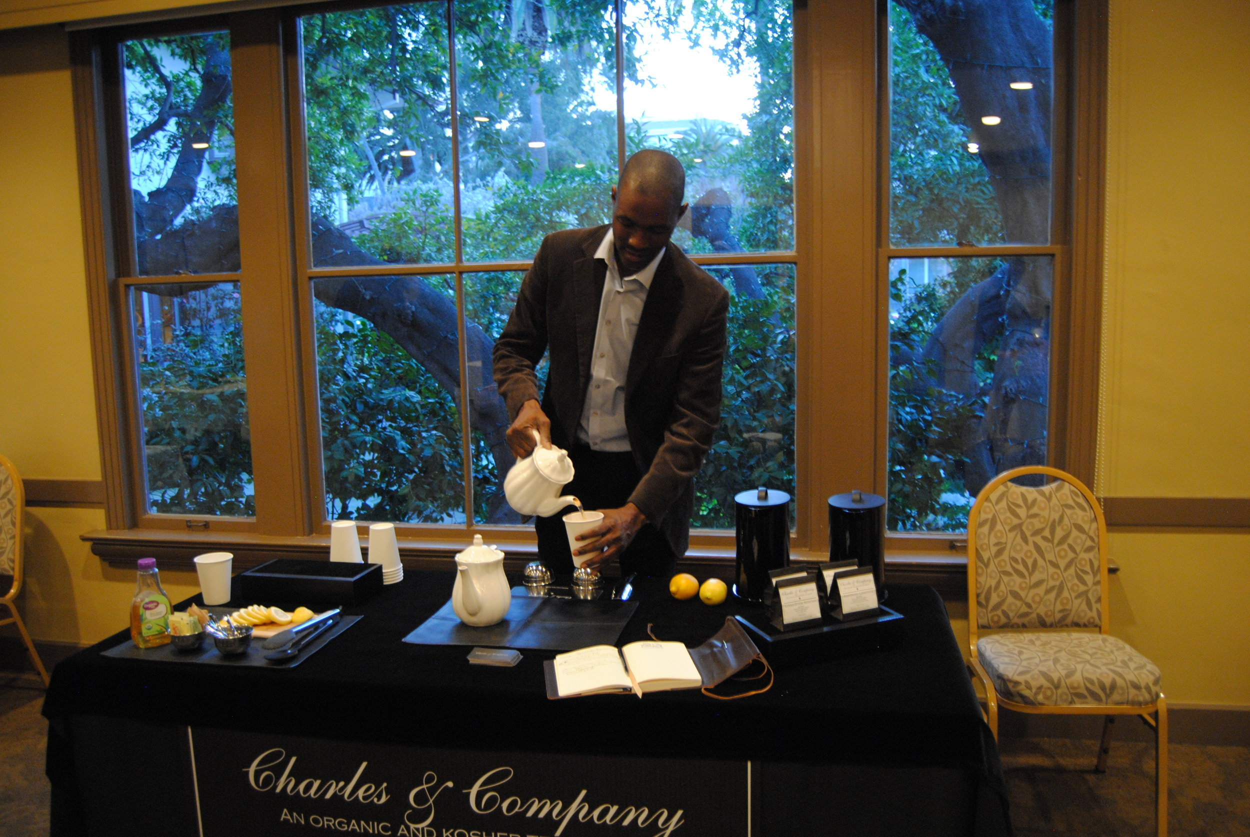 Lawrence Charles,  Charles & Company  prepares curated teas tastings