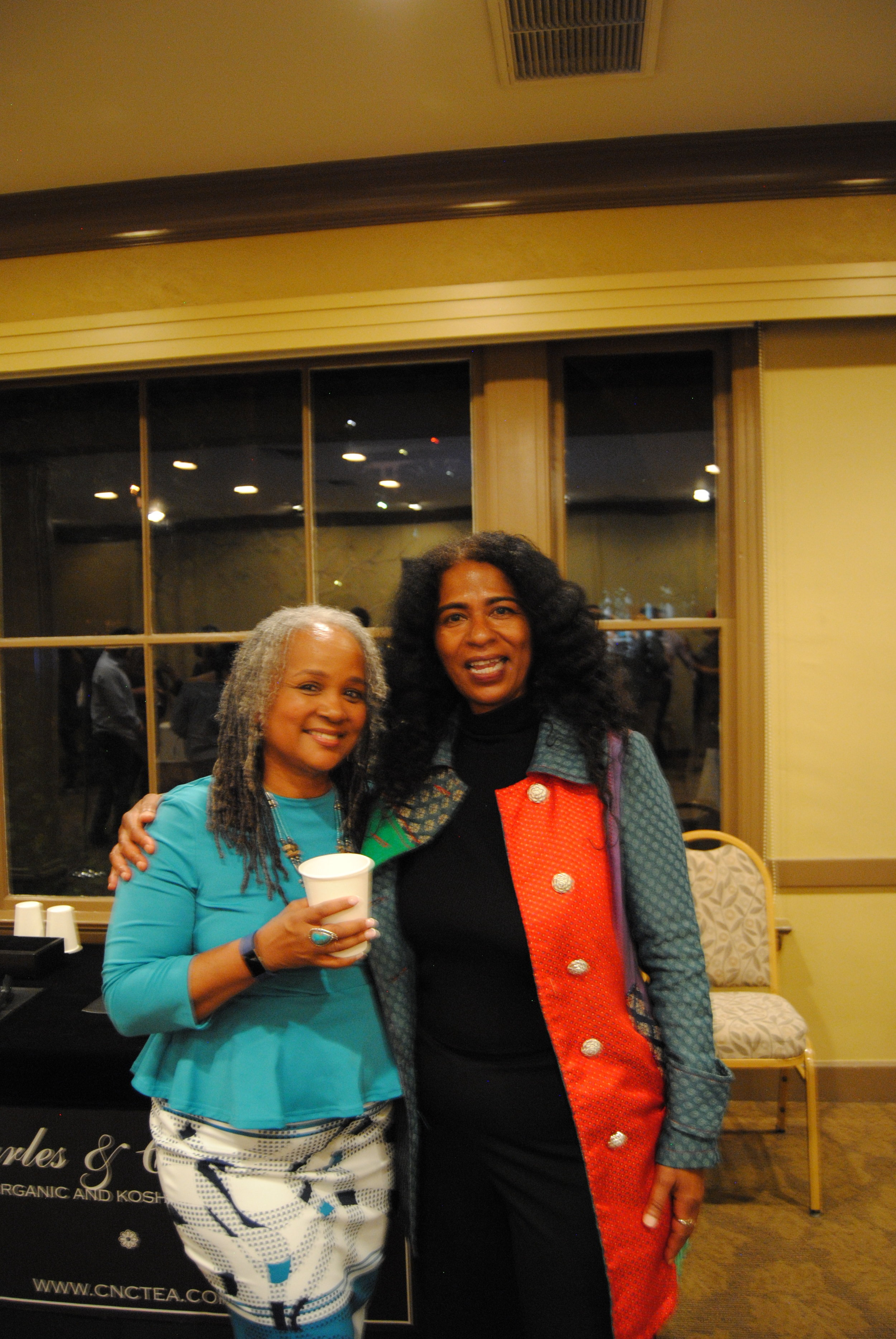 Martine Hubbard , Financial Advisor, World Financial Group (left) with Allison Gibson, Word of Mouth