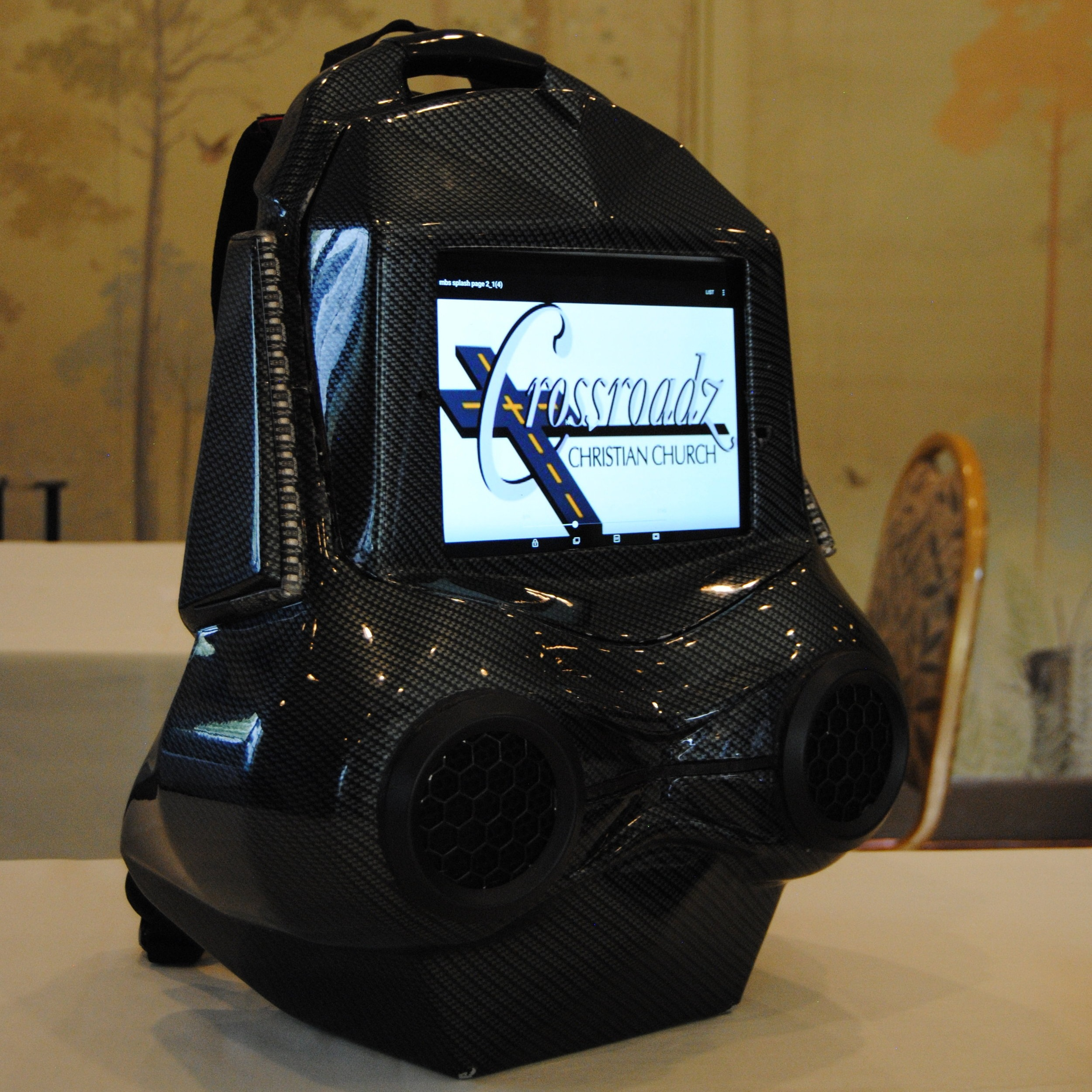 The MyBackStory backpack