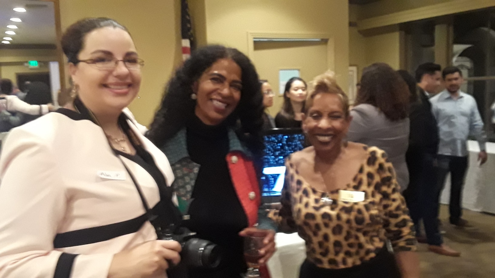 L to R:  Alia Parise , photographer; Allison Gibson, Word of Mouth; and Zenobia Millet