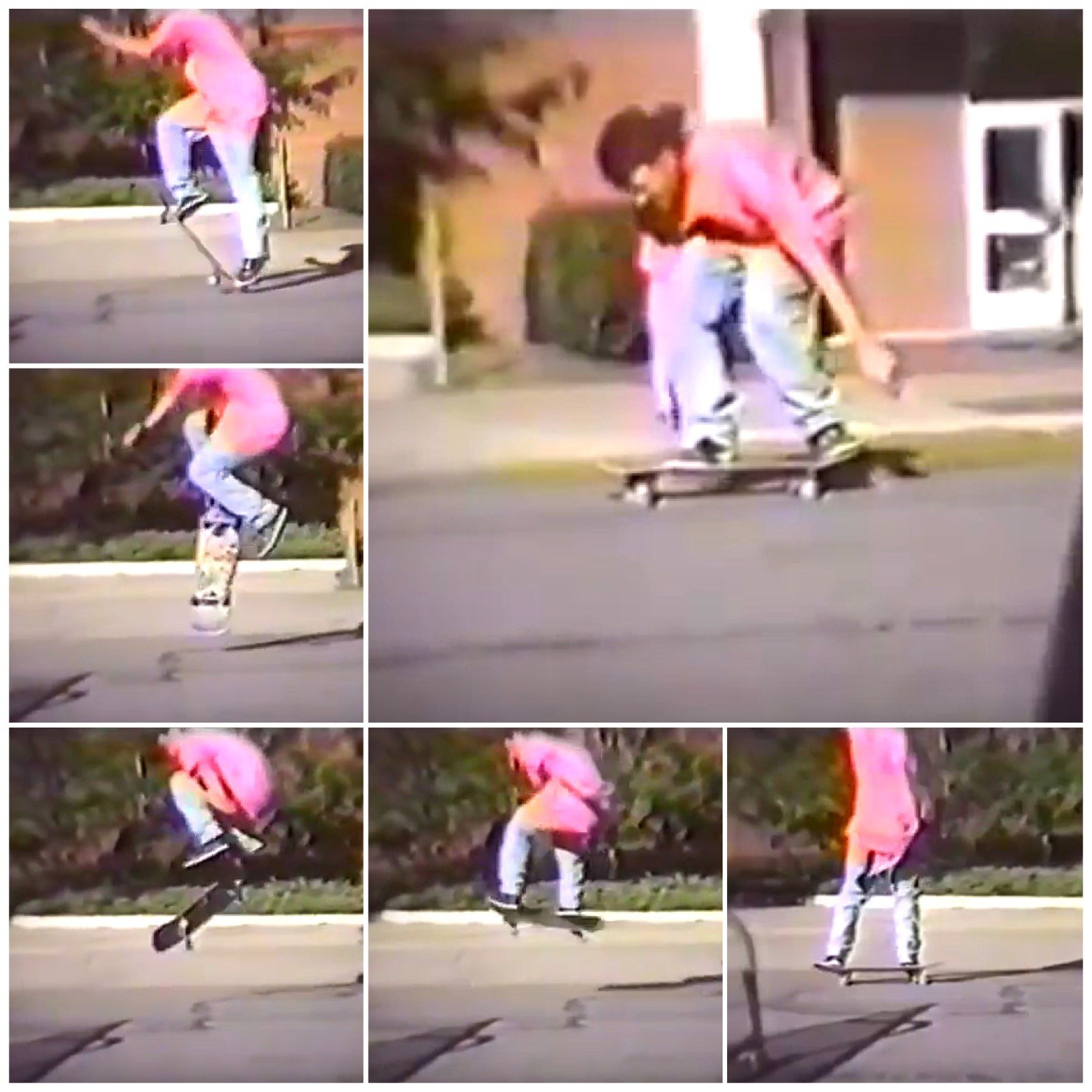 The first frontside flip I ever saw on flatground. Ali Mills 1990.