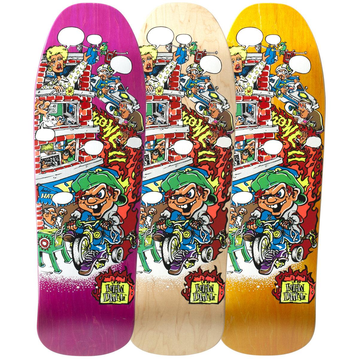 New_Deal_Skateboards_Andy_Howel_Tricycle_Kid_screen_printed_deck.jpg