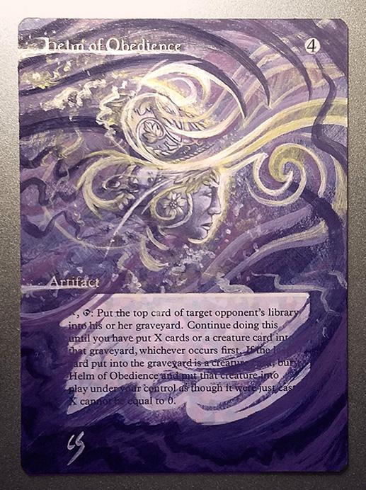 Custom acrylic painting on Magic: The Gathering card.